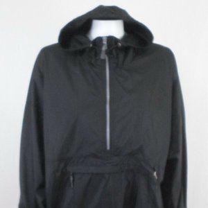 Nylon Hooded 1/2 Zip Popover Winbreaker Jacket E10